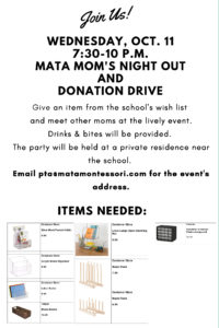Mata Mom's Night Out and Donation Drive