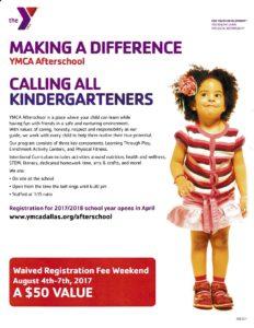 YMCA Afterschool - Waived Registration Fee Weekend